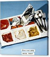 Space: Food Tray, 1982 Canvas Print
