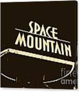 Space Mountain Sign Magic Kingdom Walt Disney World Prints Rustic Canvas Print