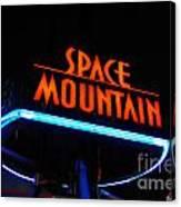 Space Mountain Sign Magic Kingdom Walt Disney World Prints Canvas Print