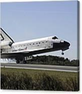 Space Shuttle Atlantis Touches Canvas Print