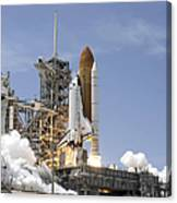 Space Shuttle Atlantis Twin Solid Canvas Print