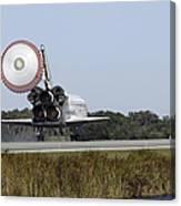 Space Shuttle Atlantis Unfurls Its Drag Canvas Print
