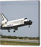 Space Shuttle Discovery Approaches Canvas Print