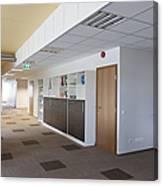 Spacious Office Hallway Canvas Print