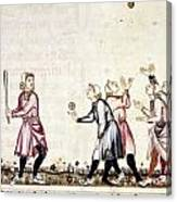 Spain: Medieval Ballgame Canvas Print