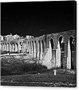 Span Of The Kamares Aqueduct Larnaca Republic Of Cyprus Europe The Aqueduct Was Built In 1750 Canvas Print