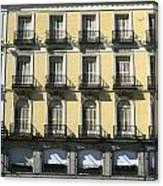 Spanish Facade Madrid Canvas Print