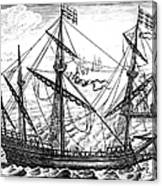 Spanish Ship, C1595 Canvas Print