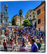 Spanish Steps Canvas Print