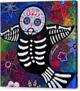 Sparrow Day Of The Dead Canvas Print