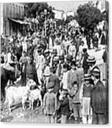 Sparta Greece - Street Scene - C 1907 Canvas Print