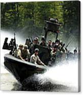 Special Forces In A High-speed Combat Canvas Print