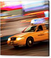 Speeding Cab Canvas Print