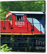 Speeding Cn Train Canvas Print