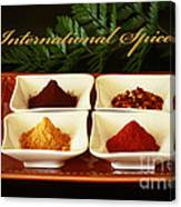 Spices From Around The World Canvas Print