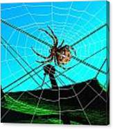 Spider On The Olympic Roof Canvas Print