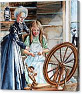 Spinning Wheel Lessons Canvas Print