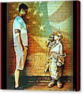 Spirit Of Freedom - Soldier And Son Canvas Print