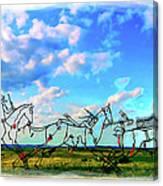 Spirit Warriors - Little Bighorn Battlefield Indian Memorial Canvas Print