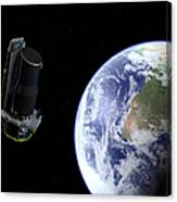 Spitzer Departing The Earth Canvas Print
