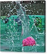 Splash Pool Canvas Print