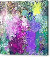 Splattered Colors Abstract Canvas Print