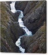 Split Creek Cascading Down Brabazon Canvas Print