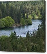 Spokane River Scene 2 Canvas Print