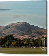 Sport Complex And The Butte Canvas Print
