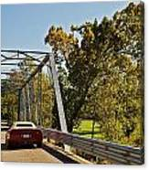 Sports Car On A Bridge Canvas Print