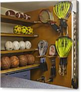 Sports Equipment Display Canvas Print