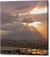Spotlight On Osaka Canvas Print