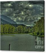 Spring Clouds At The Nicomen Slough Canvas Print