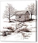 Spring House Canvas Print
