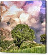 Spring Storm In Tuscany Canvas Print