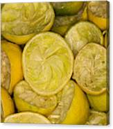 Squeezed Key Lime Halves Canvas Print
