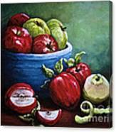 Srb Apple Bowl Canvas Print