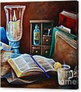 Srb Candlelit Library Canvas Print