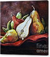 Srb Pears Canvas Print