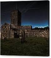 St Davids Cathedral Pembrokeshire Dusk Canvas Print