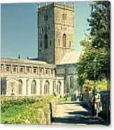 St Davids Cathedral Pembrokeshire Lomo Canvas Print
