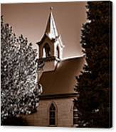 St. John's Lutheran Church In The Trees Canvas Print