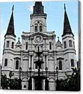 St Louis Cathedral And Fountain Jackson Square French Quarter New Orleans Fresco Digital Art Canvas Print