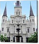 St Louis Cathedral And Fountain Jackson Square French Quarter New Orleans  Canvas Print
