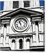 St Louis Cathedral Clock Jackson Square French Quarter New Orleans Fresco Digital Art Canvas Print