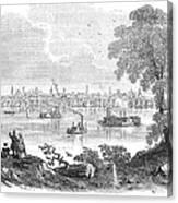 St. Louis, Missouri, 1854 Canvas Print