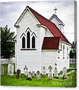 St. Luke's Church And Cemetery In Placentia Canvas Print