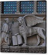 St. Marco And The Lion Canvas Print