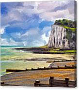 St. Margaret's Bay At Dover Canvas Print
