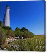 St Marks Lighthouse Along The Gulf Coastst Canvas Print